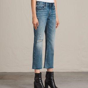 LIKE NEW All Saints Serene crop flair jeans